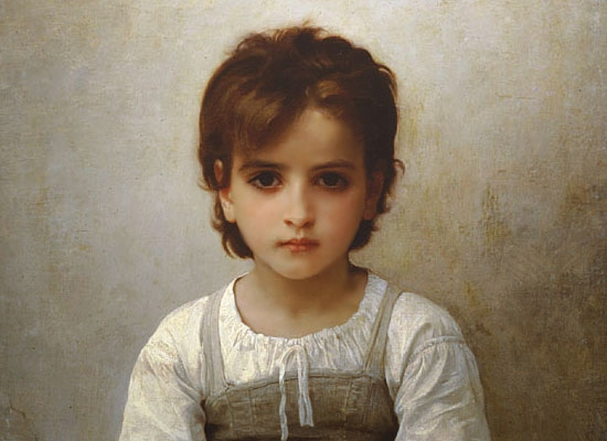 William Bouguereau: The difficult lesson 1884